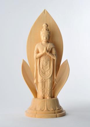 仏像/聖観音菩薩像 - 信 三浦耀山作(590-033)