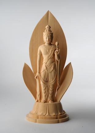 仏像/聖観音菩薩像 - 慈 三浦耀山作(590-034)