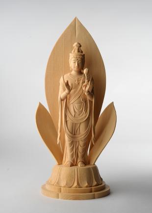 仏像/聖観音菩薩像 - 祈 三浦耀山作(590-035)