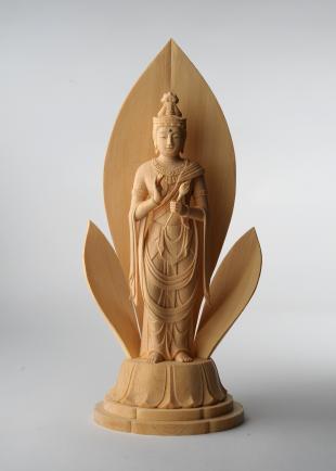 仏像/聖観音菩薩像 - 想 三浦耀山作(590-036)