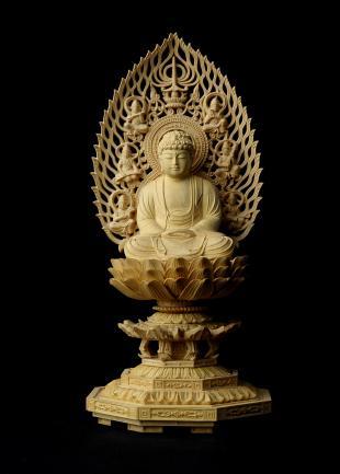 仏像/釈迦如来 - 身丈2寸 コンパクトな細密仏像(620-003)