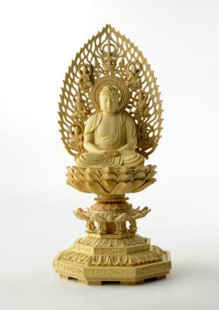 仏像/阿弥陀如来 - 身丈2寸 コンパクトな細密仏像(620-004)