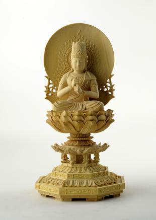 仏像/大日如来 - 身丈2寸 コンパクトな細密仏像(620-005)