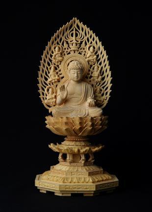 仏像/薬師如来 - 身丈2寸 コンパクトな細密仏像(620-006)