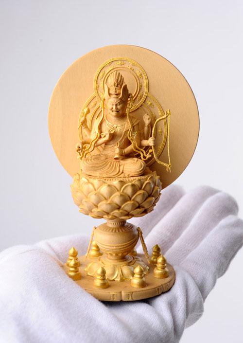 800-096の説明〜国宝模像の極小仏「愛染明王」