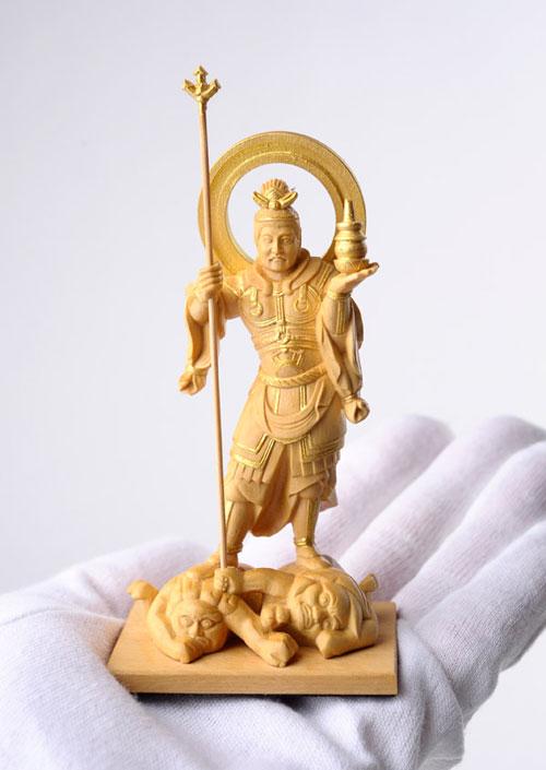 800-098の説明〜国宝模像の極小仏「毘沙門天」