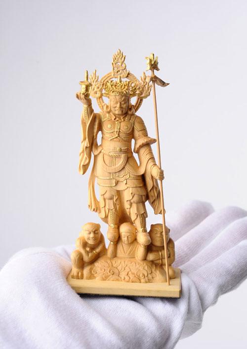 800-099の説明〜国宝模像の極小仏「四天王」